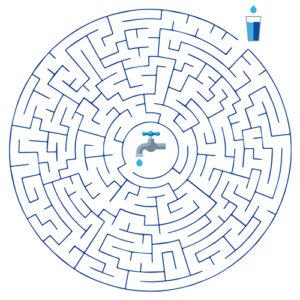 Labyrinthe Jai Soif - Pensez Bleu